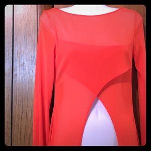 Bebe  top long sleeve size medium orange